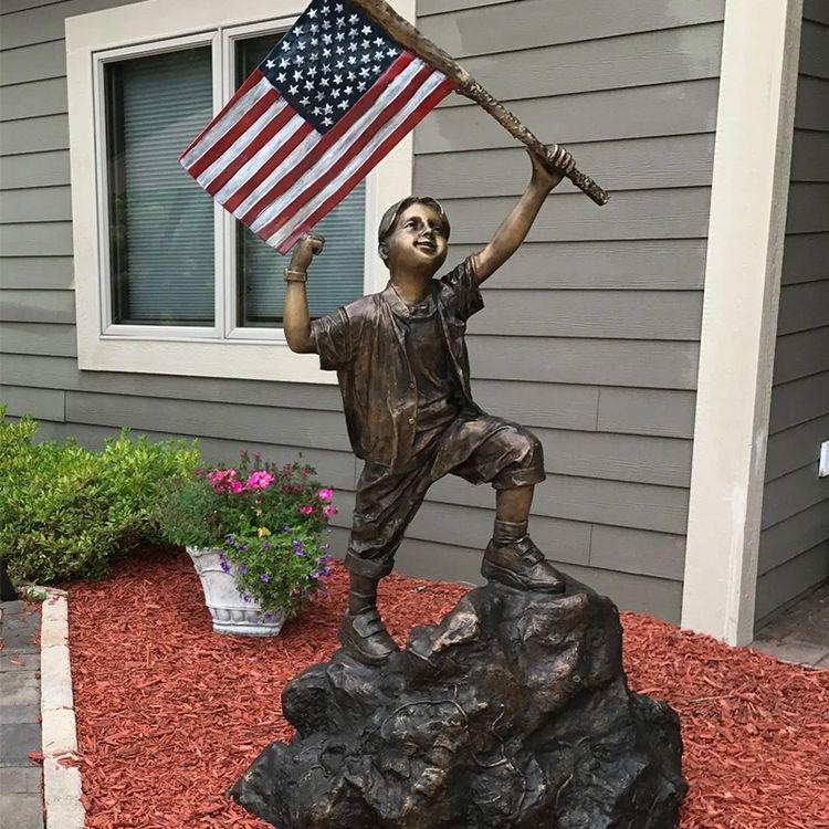 Outdoor yard patriotic garden lawn statues