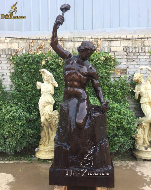 The self made man bronze statue replica for sale