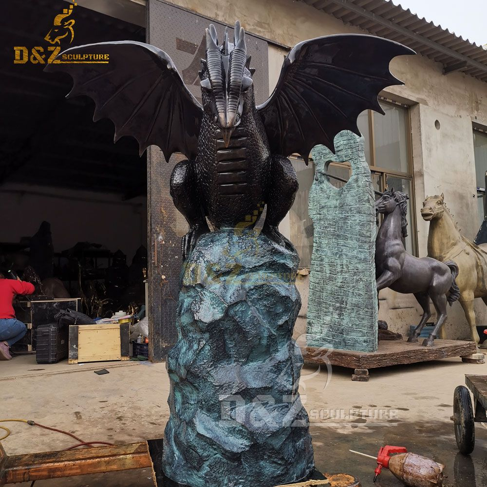 outdoor garden dragon water fountain statues for sale