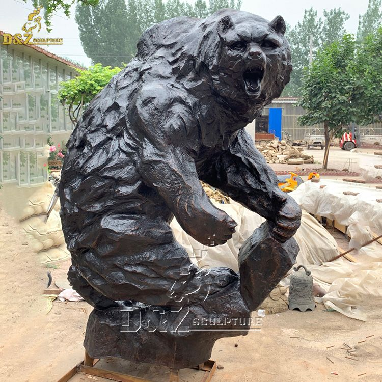 standing black bear statue for sale