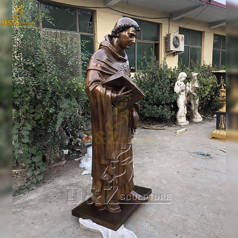 Vintage bronze St Francis Statue