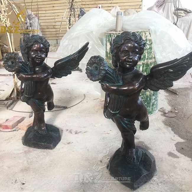 outdoor cherub angel garden fountains for sale