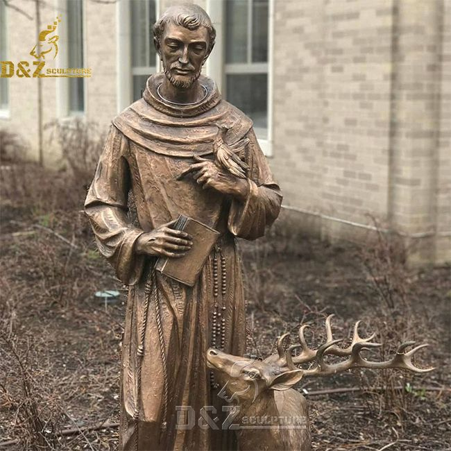 patron saint of animals st francis of assisi statue with animals