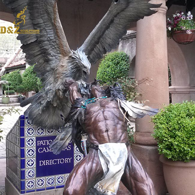 life size native american indian warrior statues for sale