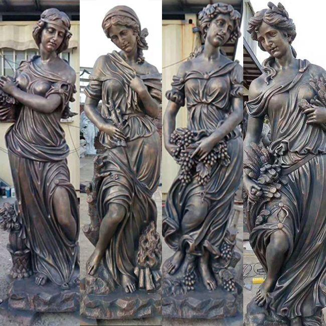 bronze four seasons garden statues for sale