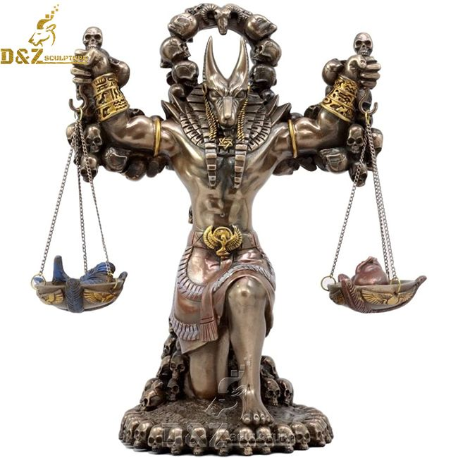 life size god of ancient egypt anubis statue