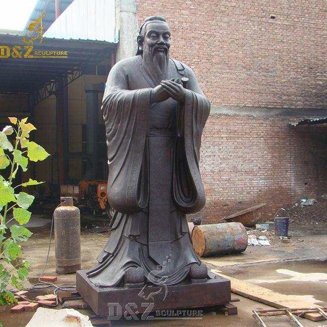 bronze confucius garden statue for sale
