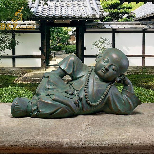 Bronze sleeping baby buddha statue for sale