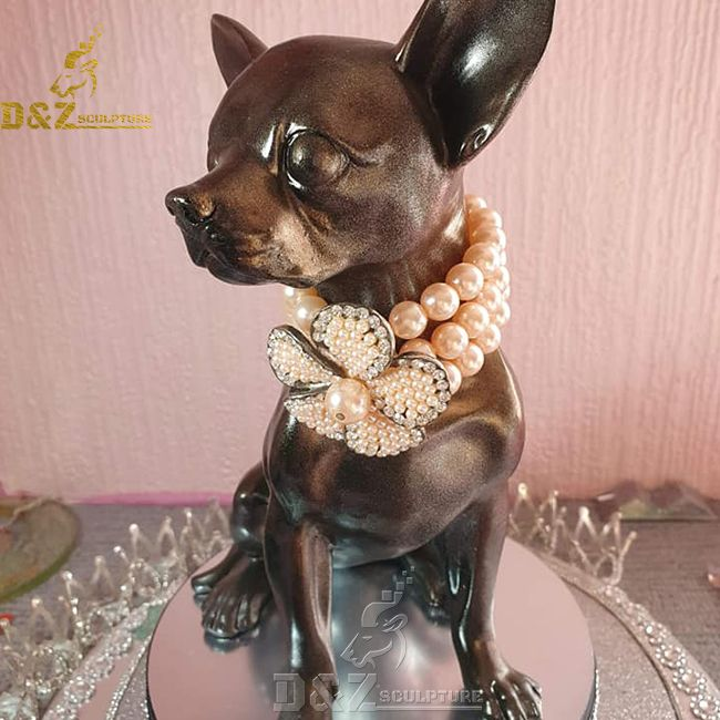 Bronze chihuahua dog statue for sale