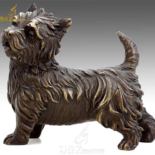 life size yorkshire terrier outdoor garden statue