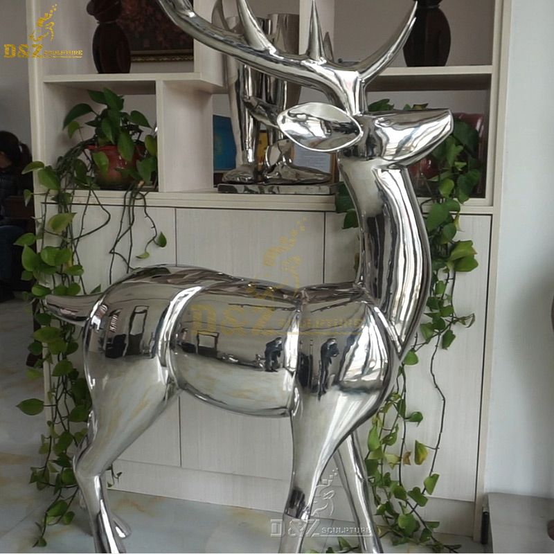 life size whitetail deer statue indoor for home decor