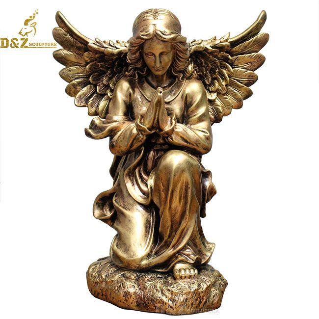 kneeling praying angel garden statue