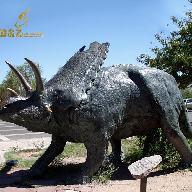 life size bronze dinosaur statue for sale