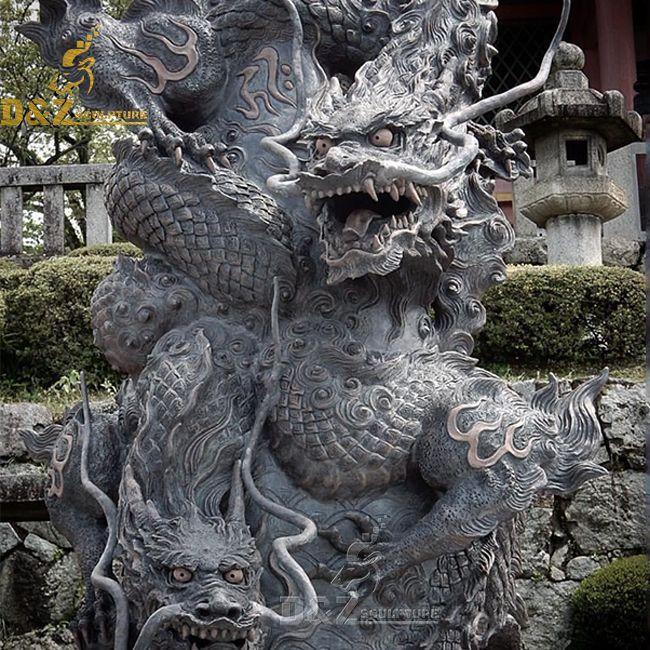 Japanese dragon garden statue for sale