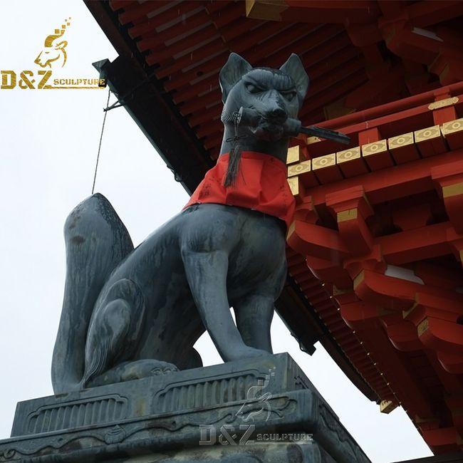 Japanese inari fox statue for sale
