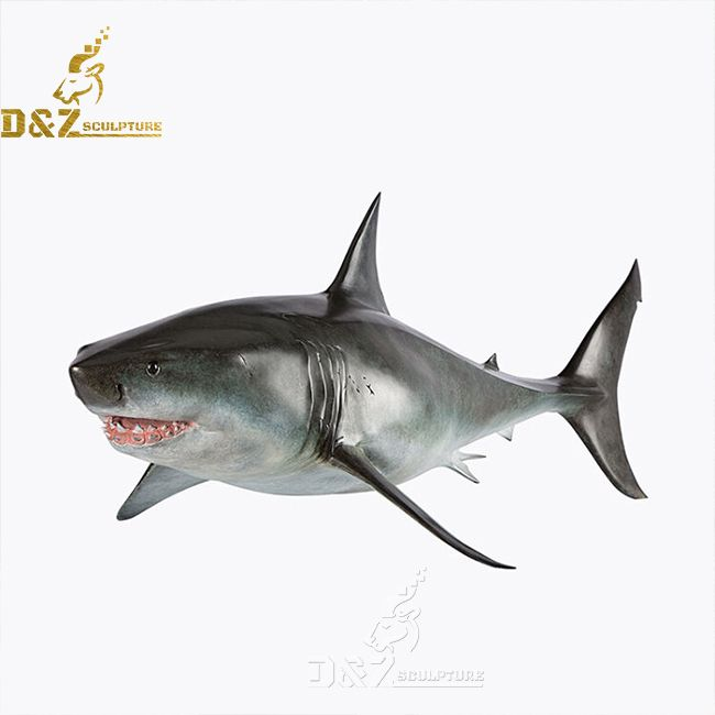 great white shark statue for sale
