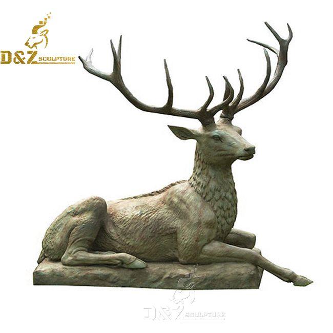 bronze sitting deer statue for sale