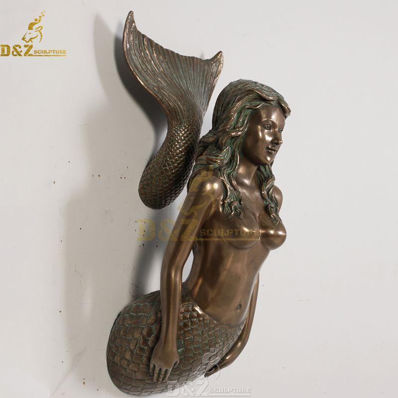 mermaid wall sculpture metal wall art decor