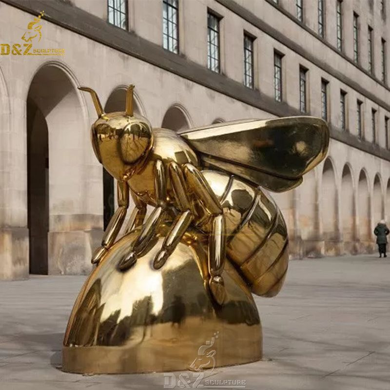 Queen honey bee garden statue