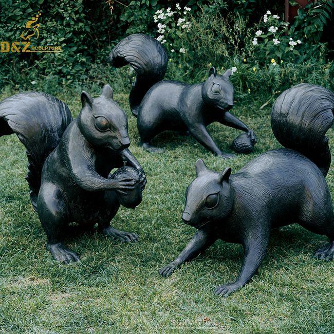 outdoor giant squirrel garden statues