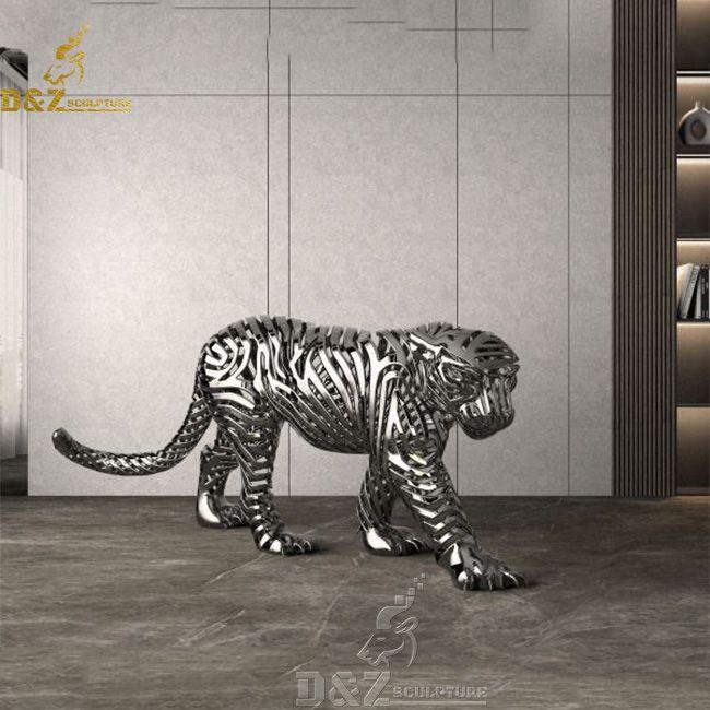 large metal leopard statue home decor for sale