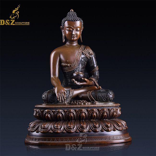 Tibetan shakyamuni earth touching buddha statue for sale