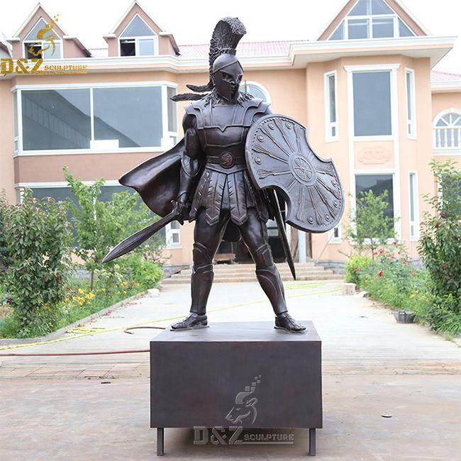 large bronze ancient greek leonidas statue sparta warrior