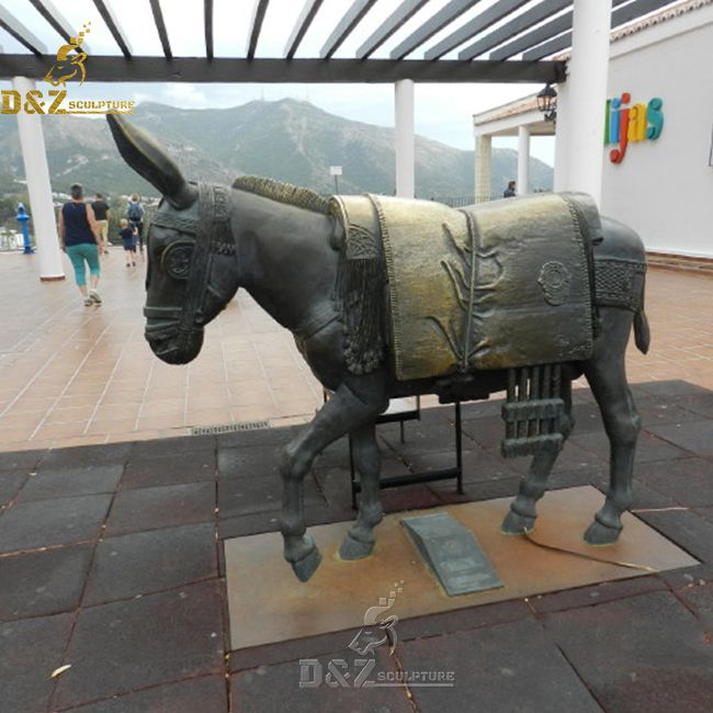 outdoor large donkey garden yard statue for sale