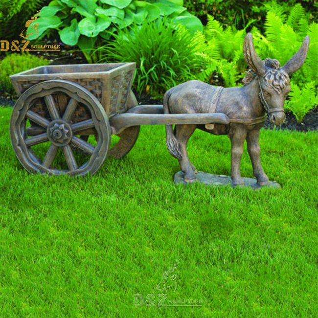 donkey and cart garden statue for sale