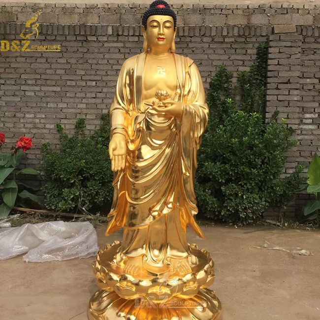 giant gold buddha statue home decor for sale