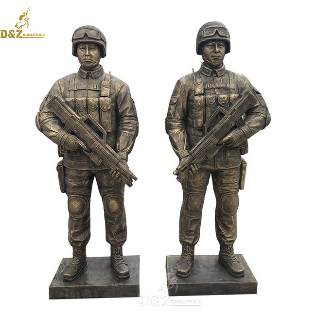 large outdoor special forces military army soldier garden statue