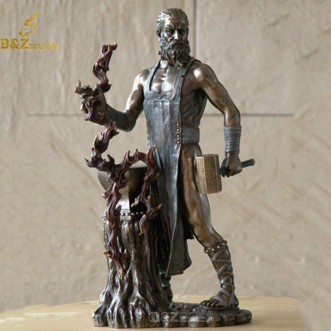 Bronze greek god hephaestus statue for sale