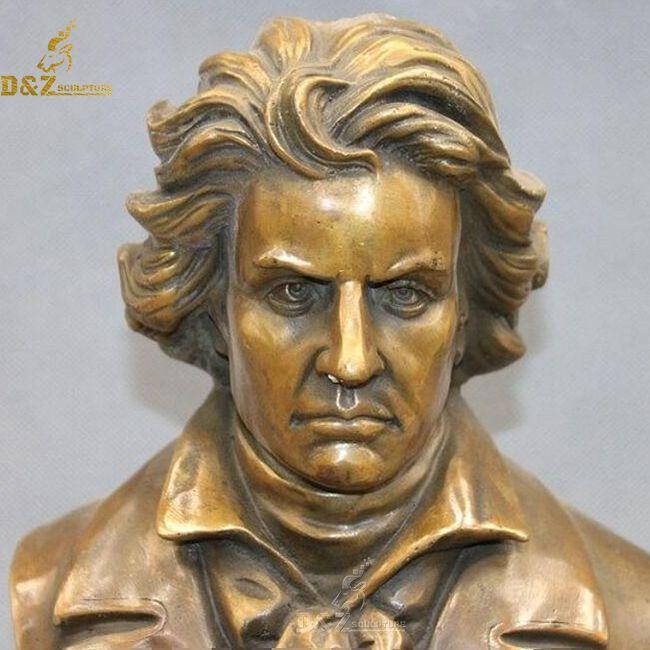 Bronze beethoven head statue for sale