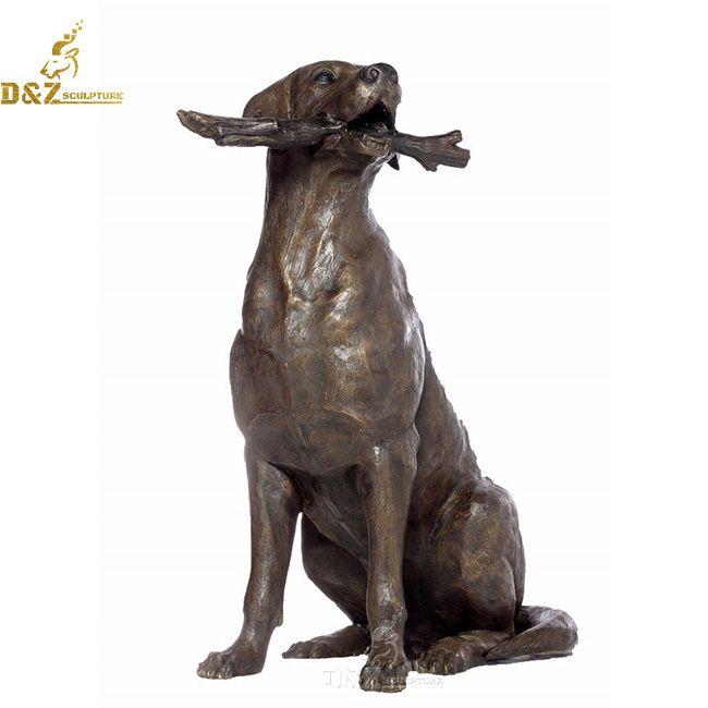 life size chocolate lab garden statue outdoor