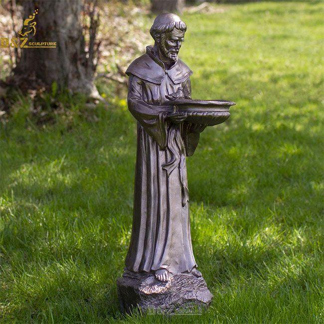 st francis bird feeder statue