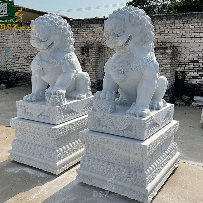 Chinese guardian dogs lion statue for sale