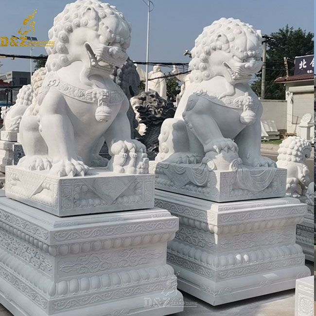 large outdoor foo dog statues for sale