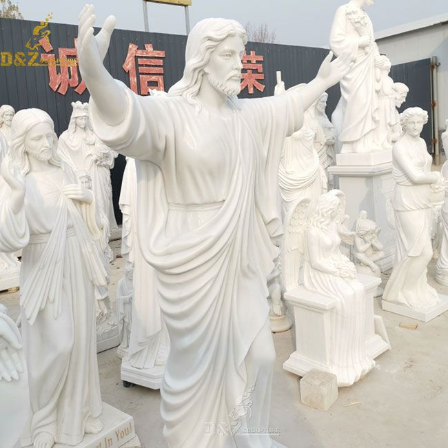 White Jesus with open arms statue for sale