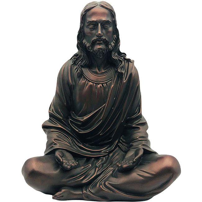 The peace of christ jesus meditating statue