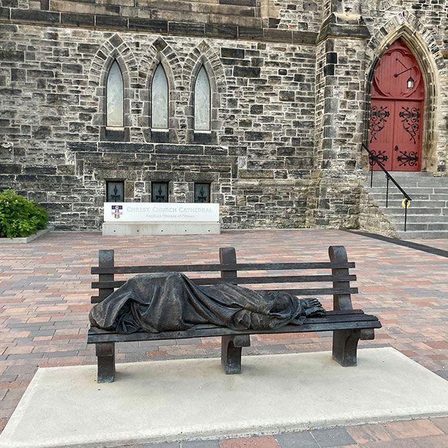 homeless sleeping Jesus statue for sale
