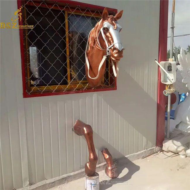 Horse head bust sculpture wall decor