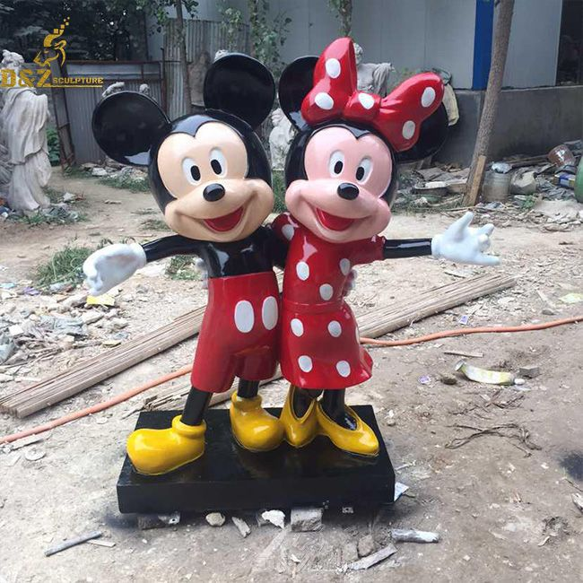Mickey mouse and Minnie mouse life size statue for sale