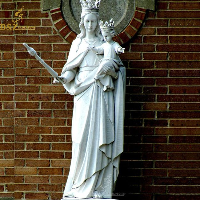 Marble our lady of mount Carmel outdoor statues for sale