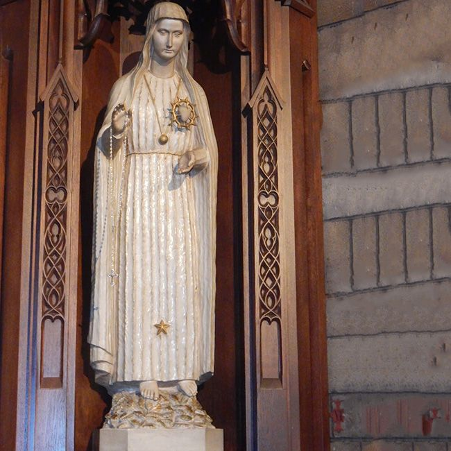 Marble immaculate heart of mary statue Fatima