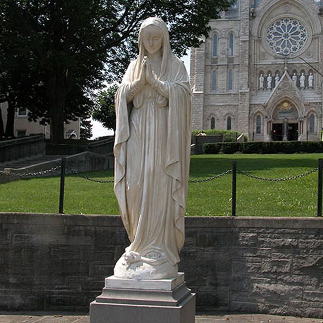 Marble our lady of immaculate conception statue