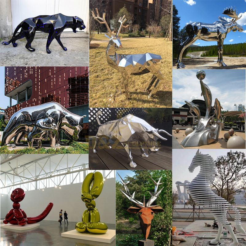 Sculpture Life Size Stainless Steel