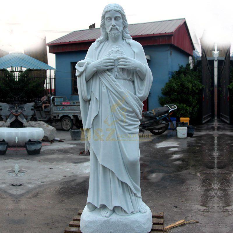 Classic Garden Sculpture Life Size Marble Jesus Statues