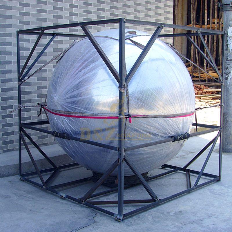 Stainless steel sphere sculpture
