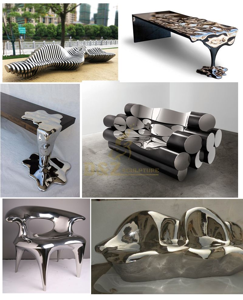 Stainless steel art Chair