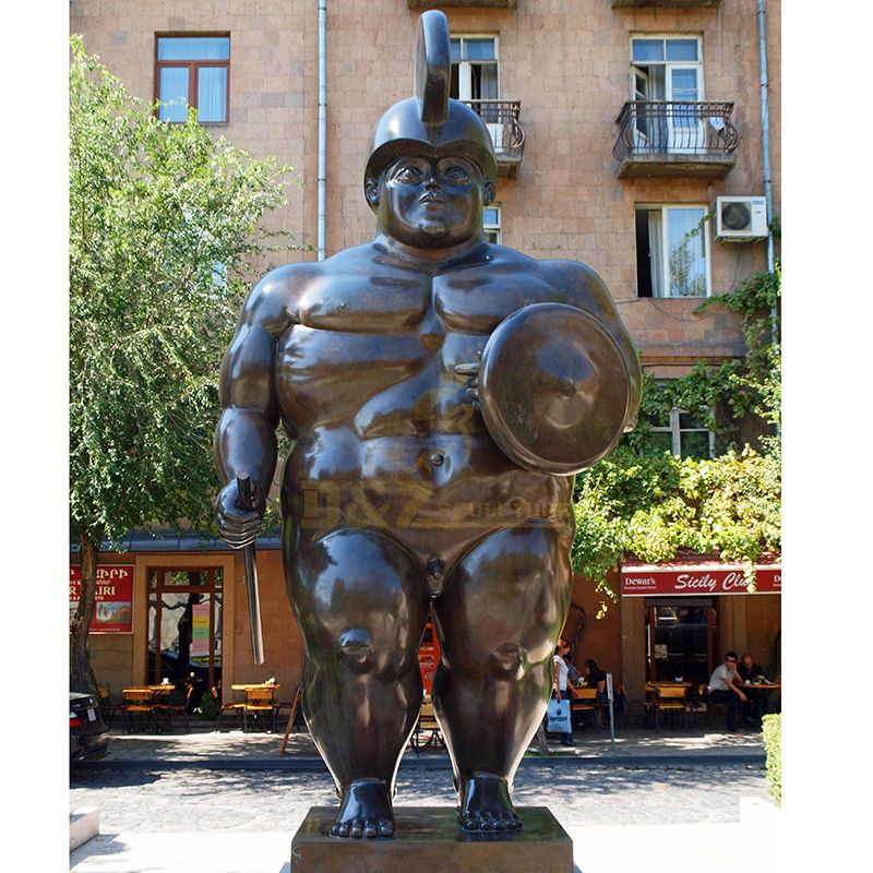 Abstract Fernando Botero Sculpture Fat Woman Lying On Horse